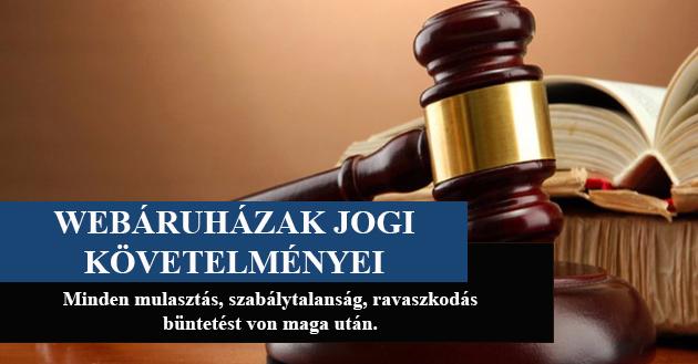 Webáruházak jogi követelményei